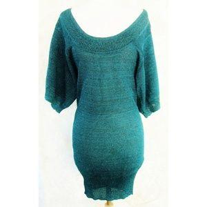 H&M Sweater /Tunic XS Dark Teal Longer Length NWOT